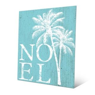 'Noel Palms - Tropical Snow Day' Metal Wall Art