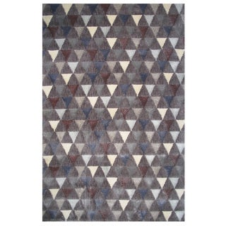 Soho Collection Boho Triangle Pattern Multicolored Rug, 5 ft. x 8 ft.