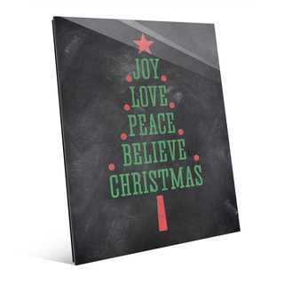 'The Joys of Christmas' Glass Tree Wall Art