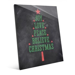 'The Joys of Christmas' Glass Tree Wall Art (2 options available)