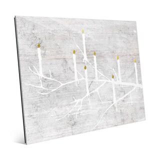 Candle Tree Night Wall Art on Glass