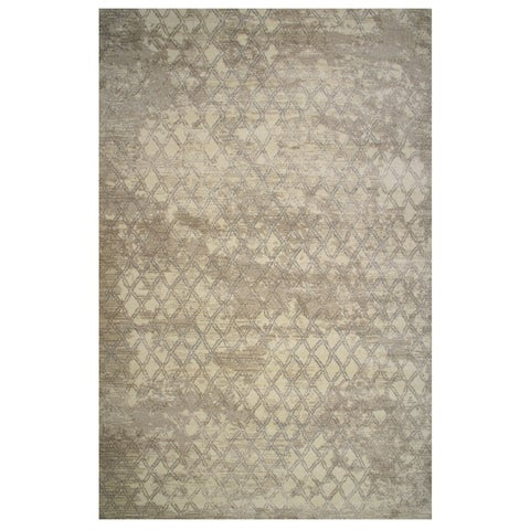 Tibet Collection Faded Tan Diamond Print Rug,