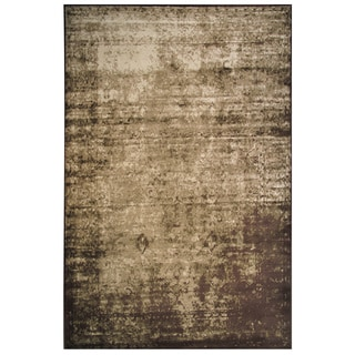 Velvet Collection Brown and Cream Rug, 8 ft. x 11 ft.