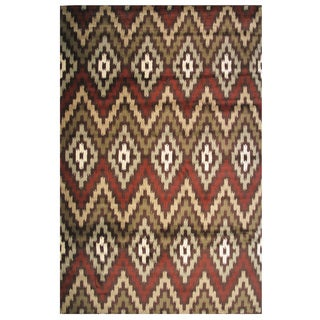 Velvet Collection Tribal Diamond Print Rug, 8 ft. x 11 ft