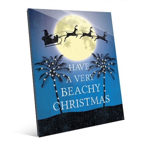 'Have a Very Beachy Christmas' Glass Wall Art