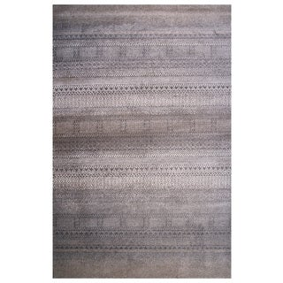 Tibet Collection Mixed Prints Boho Rug, 2 ft. x 8 ft