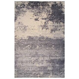 Soho Collection Gray and White Abstract Rug, 2 ft. x 8 ft.