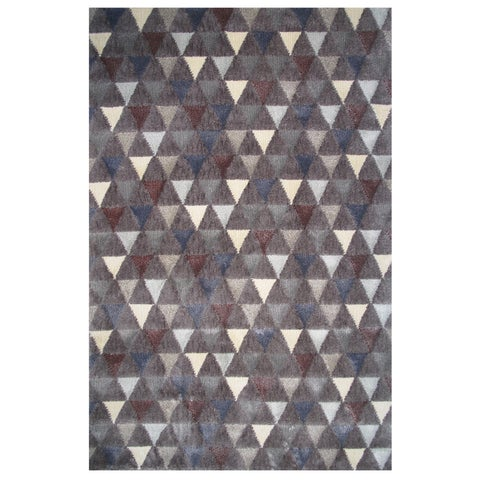 Soho Collection Boho Triangle Pattern Multicolored Rug,