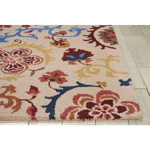 Nourison Crochet Ivory Area Rug 5 X 7 5 X 7 Overstock 13839702