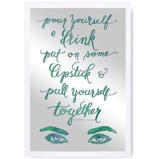 Oliver Gal 'Put On Some Lipstick' Mirror Art - Green