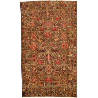 Herat Oriental Afghan Hand-knotted Tribal Balouchi Wool Rug (3'9 x 6'6)