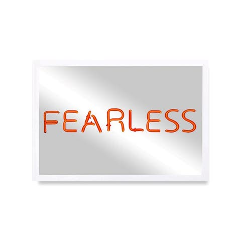 Oliver Gal 'Fearless - Red' Mirror Art - Red