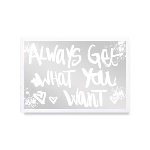 Oliver Gal 'Get What You Want' Mirror Art - Gold