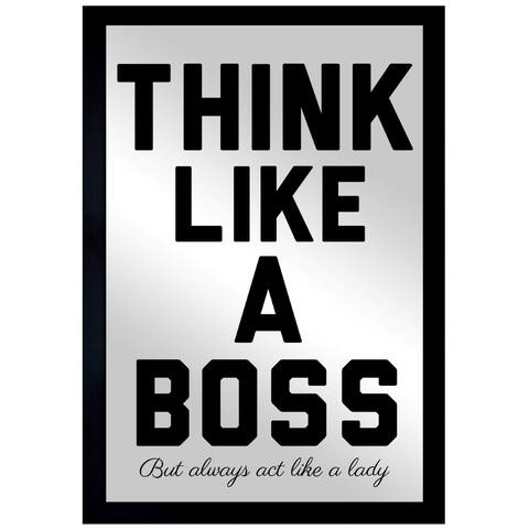 Oliver Gal 'Like A Boss' Mirror Art - Black