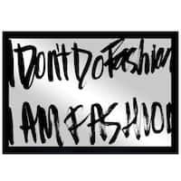 Oliver Gal 'Fashion is Everything' Mirror Art - Black
