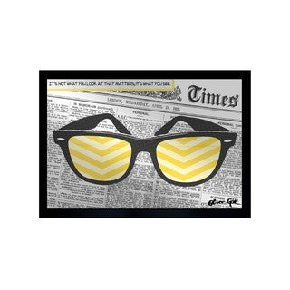 Oliver Gal ' Its what You See' Mirror Art - YELLOW