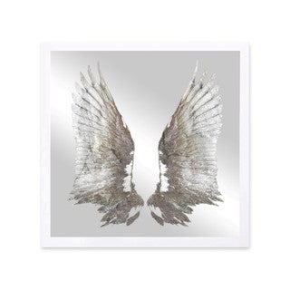 Oliver Gal 'My Silver Wings' Mirror Art