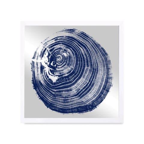 Oliver Gal 'Legno Blu Due' Mirror Art - Blue