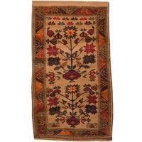 Handmade Herat Oriental Afghan Tribal Balouchi Wool Rug (Afghanistan) - 2'7 x 4'6