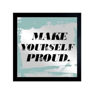 Oliver Gal 'Make Yourself Proud' Mirror Art - Black - 20 x 20