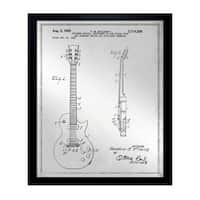 Oliver Gal 'Gibson Les Paul Guitar, 1955 - Gray' Mirror Art