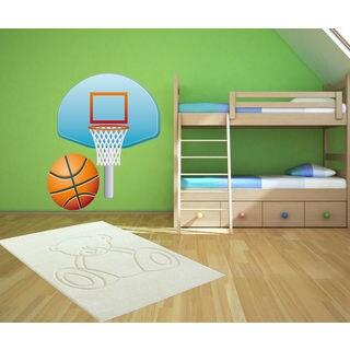 Basketball court Full Color Decal, Basketball Full color sticker, colored Sticker Decal size 22x26