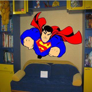 Hero superman Full Color Decal, Hero superman Full color sticker, colored Sticker Decal size 33x45