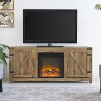 The Gray Barn Firebranch Barnwood Fireplace TV Stand