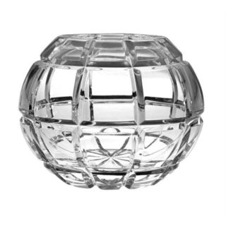 Majestic Gifts Clear Hand Cut Crystal Rose Bowl