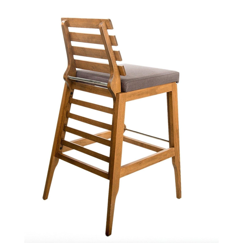 Decor Zone Destiny Grey Fabric 30 Inch Barstool Chair Overstock 13839985