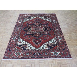 Serapi Heriz Brick Red WoolHand Knotted Oriental Rug (8 x 10)