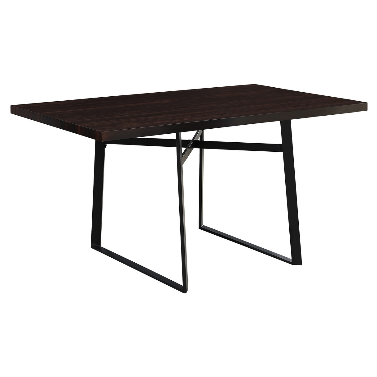 "Monarch Cappuccino Black Metal Dining Table (36"" x 60"") (..."