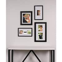 Designovation Gallery-style Brown Wood 4-Piece Picture Frame Set