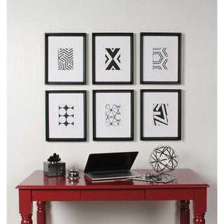 Link to Kate and Laurel Calter 6 Piece Framed Black and White Print Art Set - 16 x 13 Similar Items in Decorative Accessories