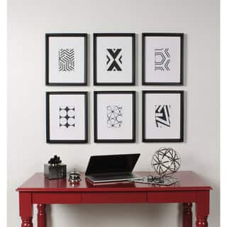 Kate and Laurel Calder 6 Piece Framed Black and White Print Art Set|https://ak1.ostkcdn.com/images/products/13840053/P20483863.jpg?impolicy=medium