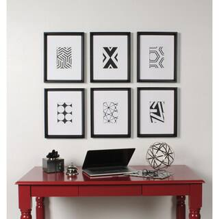 Kate And Laurel Calter 6 Piece Framed Black White Print Art Set