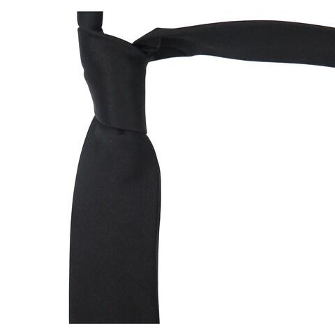 Dolce & Gabbana Black 100-percent Silk Skinny Neck Tie
