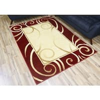 Machine-made Passion Red Polypropylene Area Rug (8' x 10')