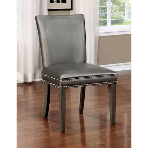 Copper Grove Chernomorets Contemporary Grey Leatherette Dining Chair (Set of 2)