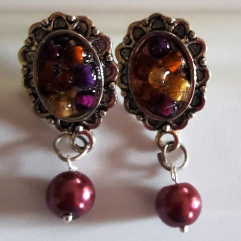 Handmade Fashion Style Dangling Earrings (India)