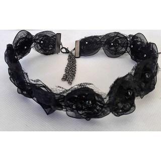 Black Rosette Choker