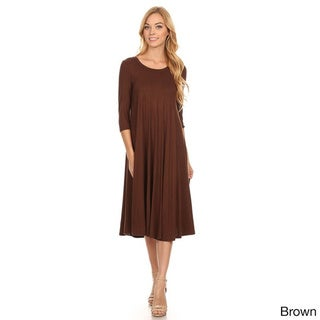 Women's Solid-color Pleated Dress
