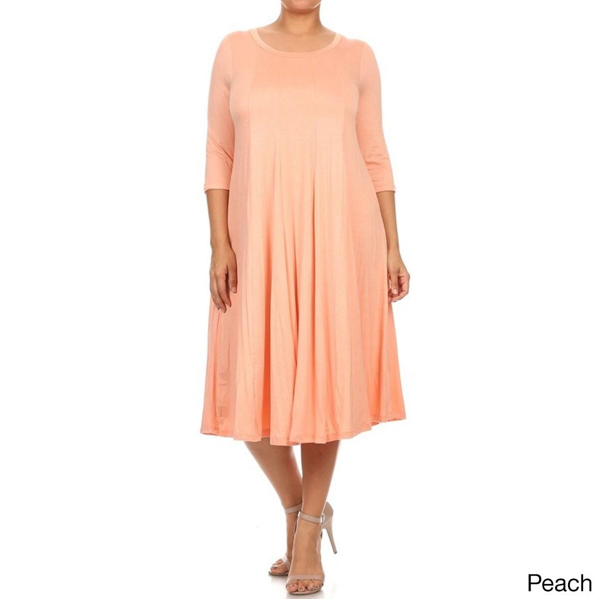 Women\'s Solid-color Plus-size Dress