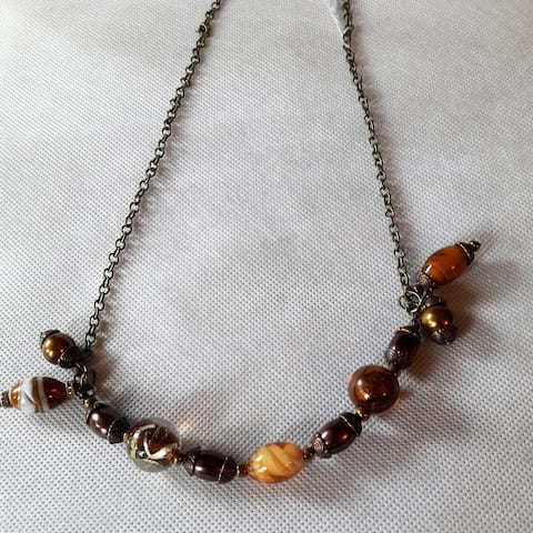 Handmade Glass Bead Necklace (Indonesia)