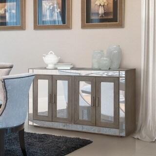 Furniture of America Galleri Contemporary Glam Mirrored Dark Grey Dining Server