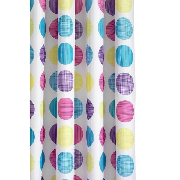 Croydex Textured Dots 70 x 70-inch Shower Curtain in Multi