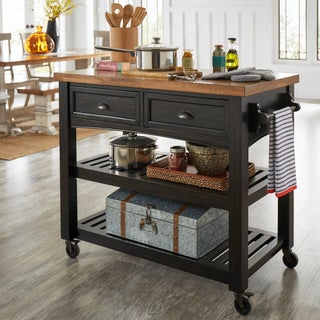Eleanor Two-Tone Rolling Kitchen Island by iNSPIRE Q Classic (3 options available)