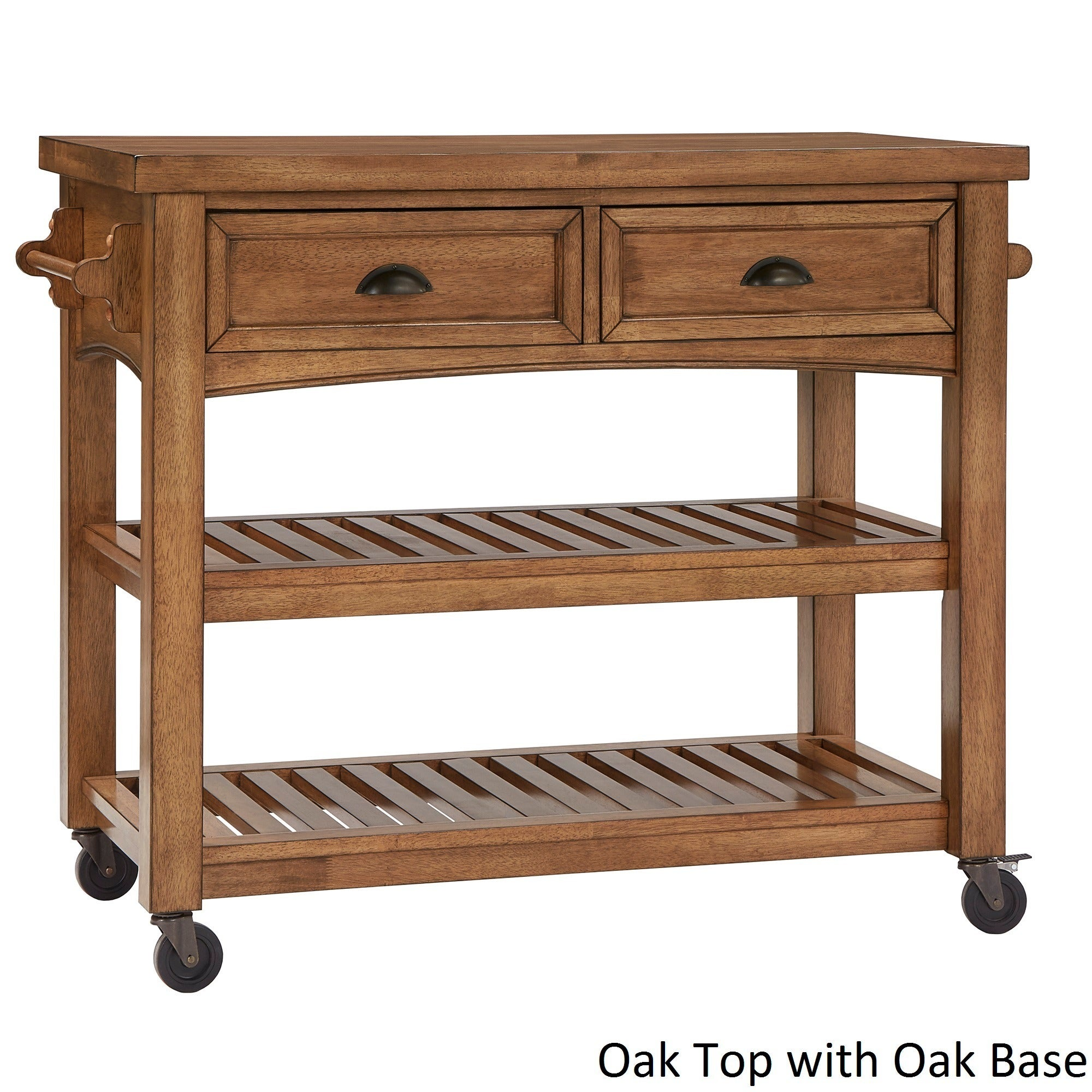 Eleanor Two Tone Rolling Kitchen Island by iNSPIRE Q Classic
