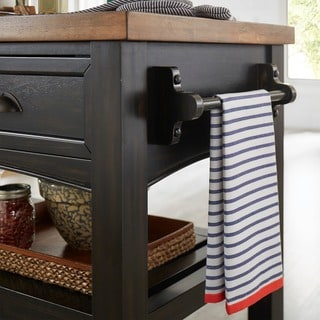 Eleanor Two-Tone Wood Kitchen Cart by TRIBECCA HOME