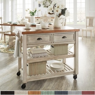 Modern portable kitchen island Double Waterfall Kitchen Eleanor Twotone Rolling Kitchen Island By Inspire Classic Overstock Buy Kitchen Islands Online At Overstockcom Our Best Kitchen